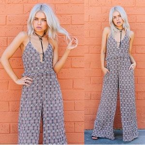 Dresses & Skirts - Ooh La Luxe Patterned Jumpsuit